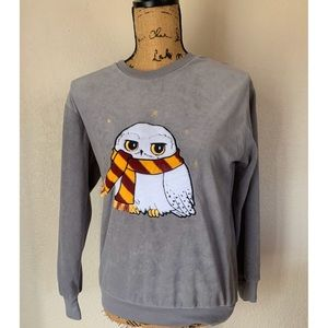 Harry Potter Women's Small Grey Hedwig Pullover